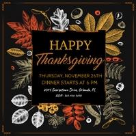 thanksgiving, thanksgiving dinner Instagram-bericht template