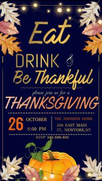 Thanksgiving, thanksgiving dinner Instagram template