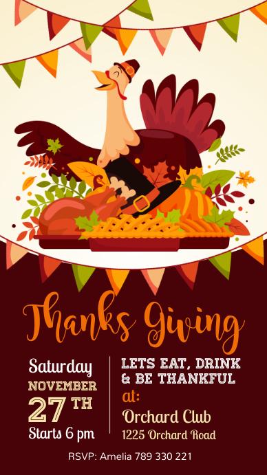 thanksgiving, thanksgiving sale, turkey เรื่องราวบน Instagram template
