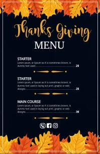 thanksgiving,Thankgiving feast,autumn Halve pagina breed template