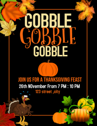 thanksgiving ,thanksgiving party,eventflyer