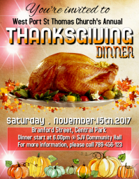Thanksgiving 2017 Flyer (US Letter) template