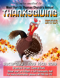 Thanksgiving 2019 Flyer (US Letter) template