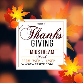 thanksgiving ad social media TEMPLATE Instagram Post