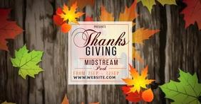 thanksgiving ad social media TEMPLATE Facebook Shared Image