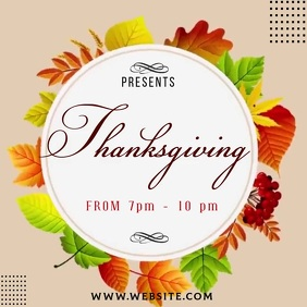 thanksgiving ad social media TEMPLATE Logotipo