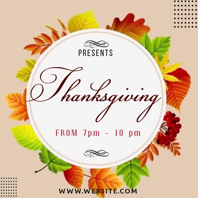 thanksgiving ad social media TEMPLATE Logo