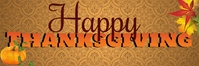 Thanksgiving Banner 2 Bannier 2' × 6' template