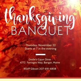 Thanksgiving Banquet Dinner Invitation Video Advert