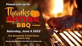Thanksgiving Barbecue Digital Display Video