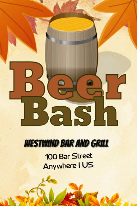 Thanksgiving Beer Bash Event Flyer