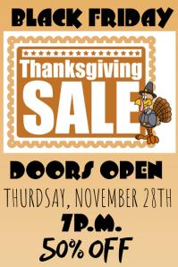 Thanksgiving Black Friday Sale Poster Flyer