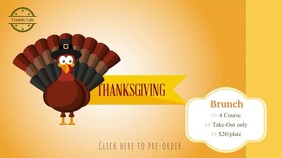Thanksgiving Brunch Digital Display Ad Affichage numérique (16:9) template