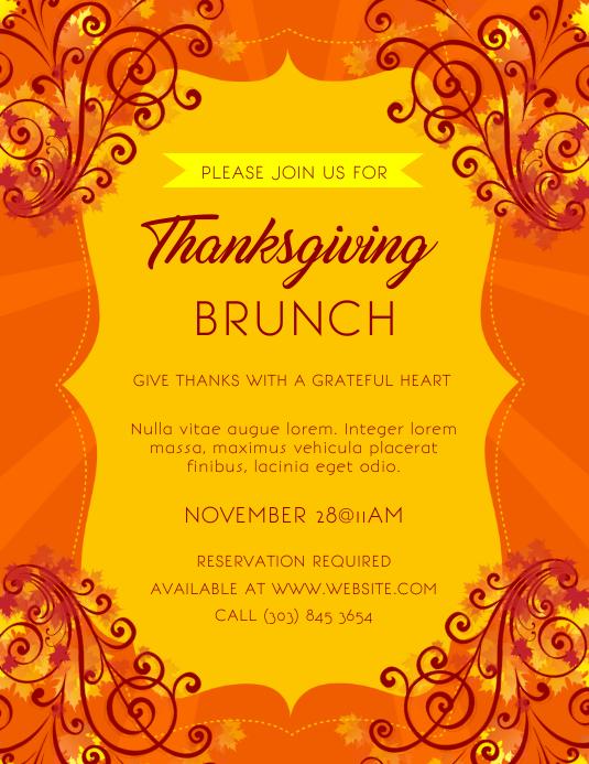 Thanksgiving Brunch Flyer