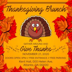 Thanksgiving Brunch Invite Square Image