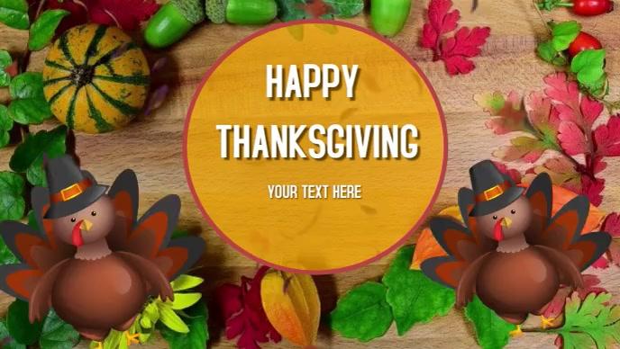 Thanksgiving Card Video Sampul Facebook (16:9) template