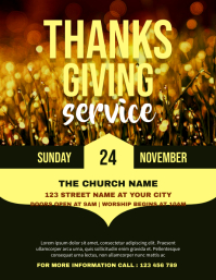 Thanksgiving Celebration Church Flyer Templat template