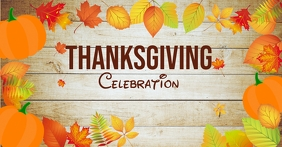 thanksgiving celebration Facebook Event Cover template
