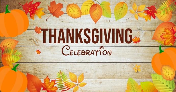 thanksgiving celebration Sampul Acara Facebook template
