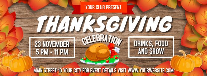 Thanksgiving Celebration Facebook Cover Photo