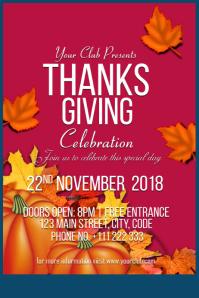 Thanksgiving Celebration Flyer
