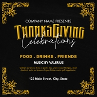 thanksgiving celebration instagram post adver Square (1:1) template
