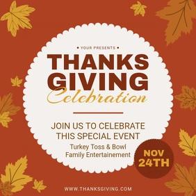 Thanksgiving Celebration Invitation Video Ad