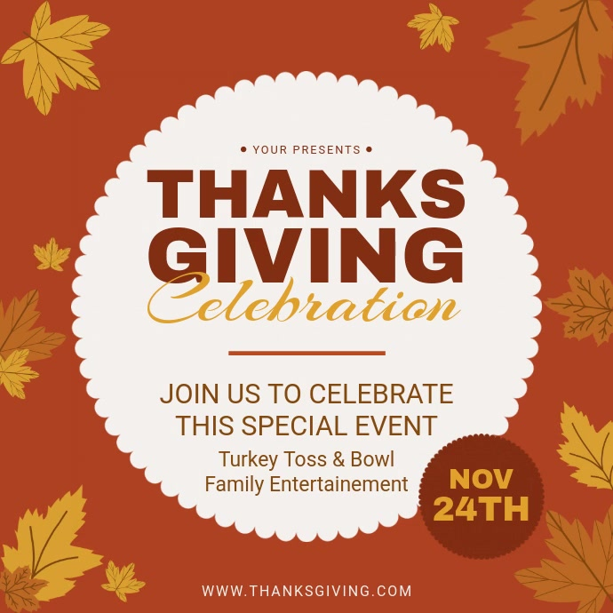 Thanksgiving Celebration Invitation Video Ad