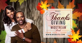 thanksgiving church ad social media TEMPLATE Facebook Shared Image