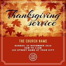 Thanksgiving Church Service