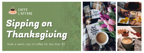 Thanksgiving Coffee Facebook Cover Photo template