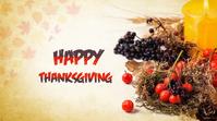 Thanksgiving Day Tampilan Digital (16:9) template