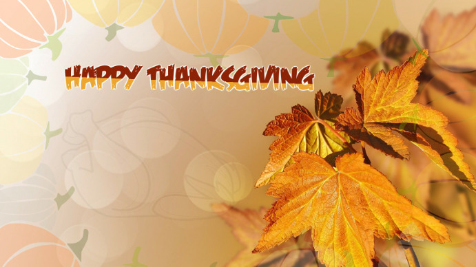 Thanksgiving Day Digital Display (16:9) template