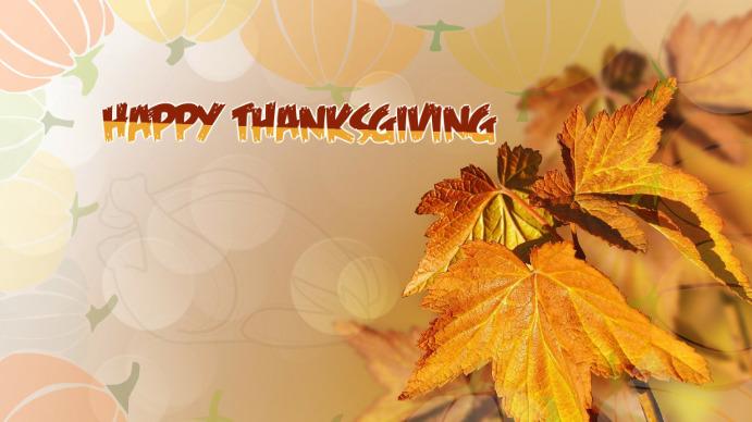 Thanksgiving Day Digital na Display (16:9) template