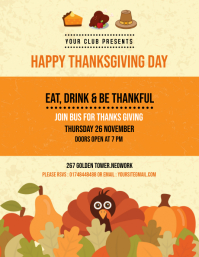 Thanksgiving Day Party Flyer template