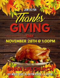THANKSGIVING DAY TURKEY FEAST FLYER