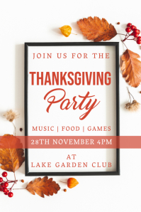 thanksgiving Плакат template