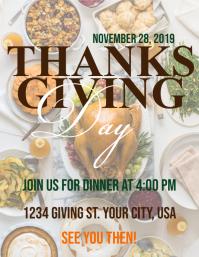 Thanksgiving Flyer (US Letter) template