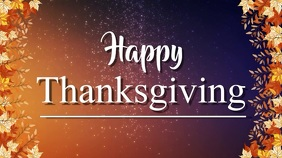 thanksgiving Digitalt display (16:9) template