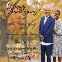 Thanksgiving Instagram-bericht template