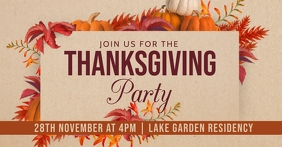 thanksgiving Facebook Event Cover template