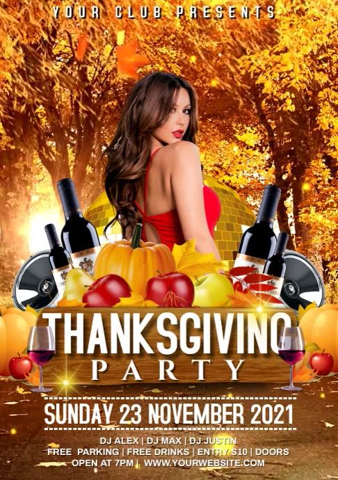 Thanksgiving A4 template