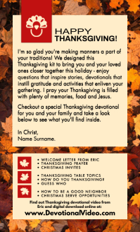 Thanksgiving Devotional Service Template Legal AS