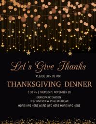 thanksgiving dinner, thanksgiving party Flyer (format US Letter) template