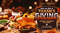 Thanksgiving Dinner Ad Pos Twitter template