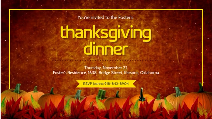 Thanksgiving Dinner Ad Digital Display Template