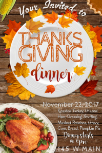 Thanksgiving Dinner Autumn Fall Holiday Food Meal Celebrate
