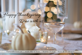 Thanksgiving Dinner/Cena Accion de Gracia/Restaurant/Event