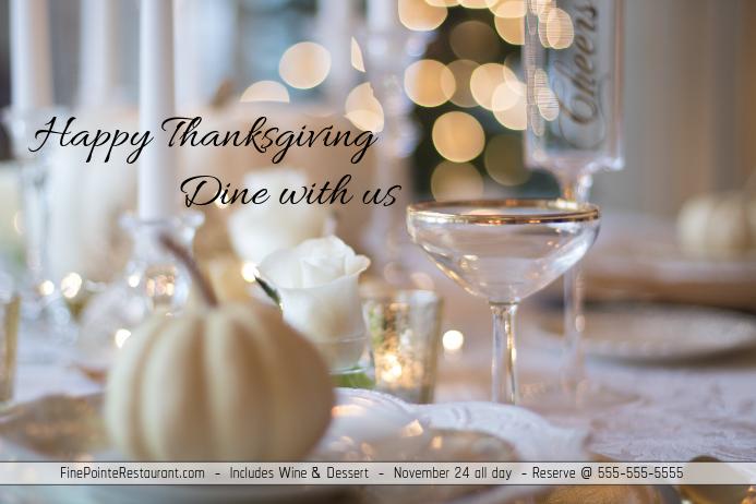 Thanksgiving Dinner/Cena Accion de Gracia/Restaurant/Event