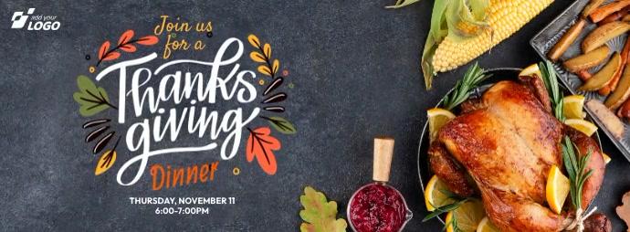 Thanksgiving Dinner Facebook-coverfoto template